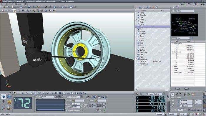 3D Video Measurement Software / Measuring Software Revo 5 Axis Supported